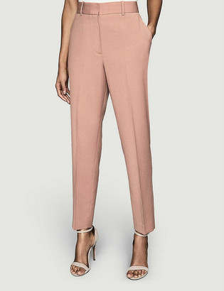 Reiss Anya tapered mid-rise wool-blend trousers