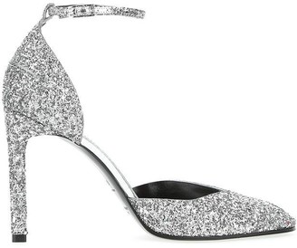 Givenchy Glittered Ankle Strap Pumps
