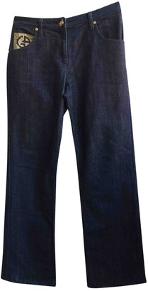 Giorgio Armani Blue Cotton - elasthane Jeans for Women Vintage