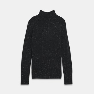 Theory Mock Neck Sweater in Donegal Cashmere
