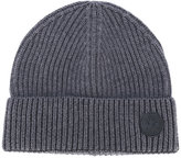 DSQUARED2 logo patch beanie hat - men - Wool - One Size