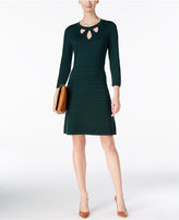 Nine West Cutout Fit & Flare Sweater Dress