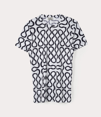 Vivienne Westwood Squiggle T-Shirt White/Blue