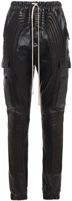 Rick Owens Quilted Stretch-leather Track Pants