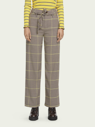 Scotch & Soda Wide-leg high-rise checked pants | Women