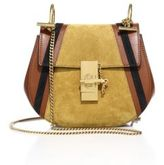 Chloé Drew Mini Patchwork Leather & Suede Saddle Crossbody Bag