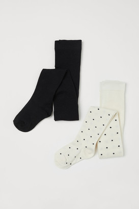 H&M 2-pack Fine-knit Tights - White