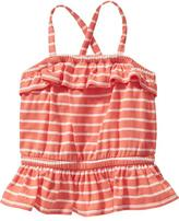 Old Navy Striped Ruffle Tanks for Baby