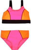 River Island Mini girls Pink colour block bikini