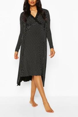 boohoo Maternity Polka Dot Nursing Nightie & dressing gown Set