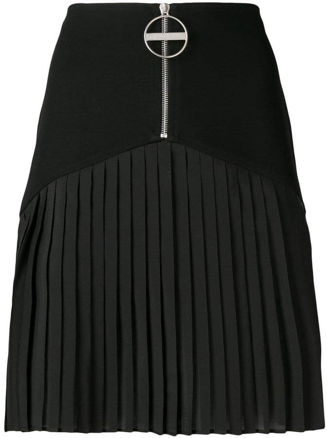 Givenchy zipped pleated skirt
