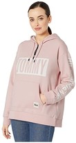 Tommy Hilfiger Adaptive Signature Hoodie (Proud Pink) Women's Clothing