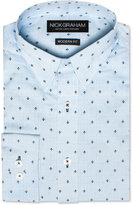Nick Graham Men's Modern Fitted Fleur-de-lis Dress Shirt