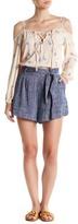 Line & Dot Ravie Tie Linen Shorts