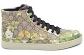 Gucci Mens Common High Top Sneakers In Bloom Print.