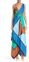 Diane von Furstenberg Women's Scarf Hem Silk Maxi Dress