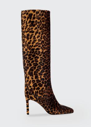 Jimmy Choo 85mm Mahesa Leopard-Print Tall Boots