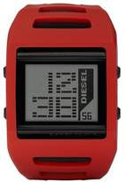 Diesel Men's Red Plastic Resin Case Gray Digital Dial Red Plastic Resin Strap