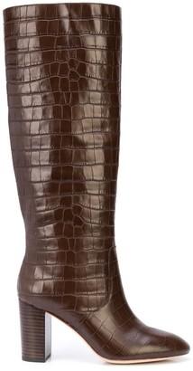 Loeffler Randall Goldy crocodile effect boots