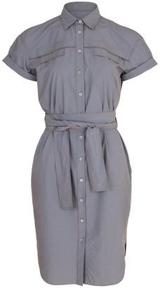 Brunello Cucinelli Poplin Button Collared Dress