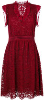 Blugirl ruched v-neck dress - women - Cotton/Polyamide/Polyester/Viscose - 42
