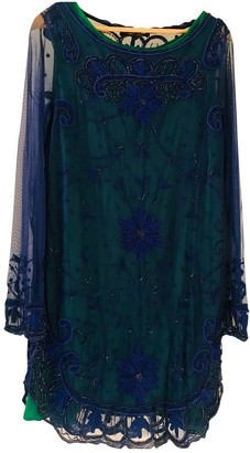 Twin-Set Twin Set Blue Lace Dress for Women