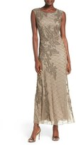 Pisarro Nights Beaded Mesh Gown (Regular & Petite)