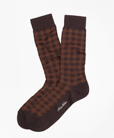 Brooks Brothers Spiral Grid Crew Socks
