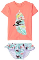 Seafolly Touci Frutti Short Sleeve Rashie Set Girl's Swimwear Sets