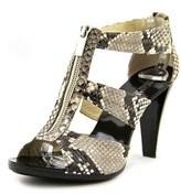 MICHAEL Michael Kors Berkley T Strap Open Toe Leather Sandals.