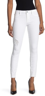 Articles of Society Sarah Distressed Raw Hem Skinny Jeans