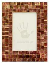 Hand Crafted Mosaic Glass Photo Frame (4x6), 'Golden Wine'