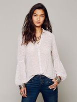 Free People Etched Floral Buttondown