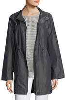Lafayette 148 New York Nikolina Empirical Iridescent Tech Cloth Utility Jacket