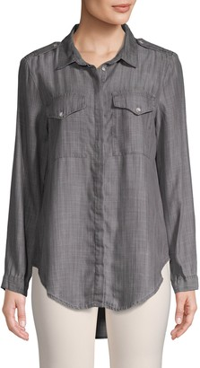 Jak & Rae Jak&Rae Classic High-Low Button-Down Shirt