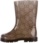 Gucci Boys' GG Canvas Rain Boots w/ Tags
