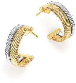 Marco Bicego 18K Yellow and White Gold Masai Two Row Hoop Earrings
