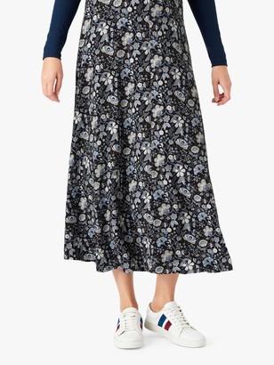 Brora Liberty Print Maxi Skirt, Nimbus Botanic