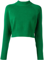 DKNY funnel-neck sweater - women - Polyester/Viscose - S