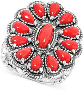American West Coral Cluster Ring (3-3/8 ct. t.w.) in Sterling Silver
