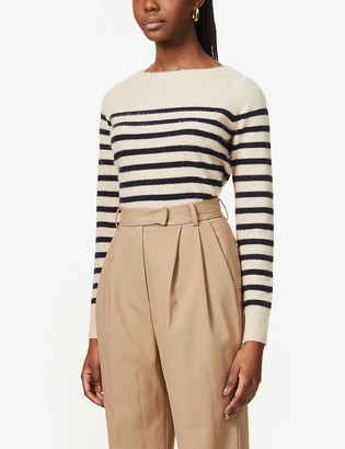 Vince Breton-stripe cashmere jumper