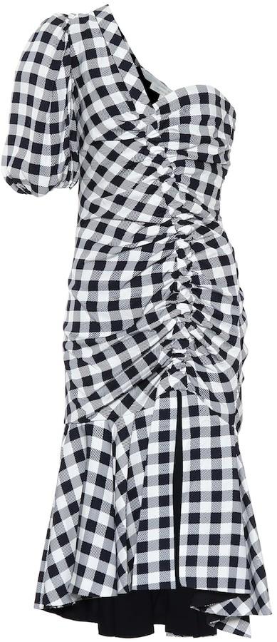 Jonathan Simkhai Checked crApe dress