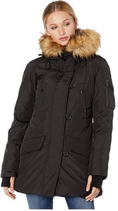 S13 Luxe Eskimo Parka (Black/Natural) Women's Clothing