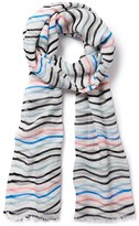 Crew Clothing Wave Striped Scarf