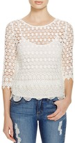 Velvet by Graham & Spencer Mixed Lace Top