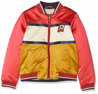 Scotch & Soda Girl's Colour-Block Bomber Jacket with Artworks