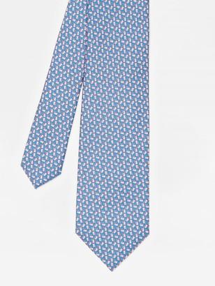 J.Mclaughlin Italian Silk Tie in Easter Bunny