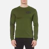 Billionaire Boys Club Helmet Print Long Sleeve Tshirt - Olive