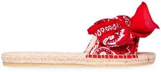 Manebi Bandana Bow Espadrille Sandals