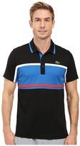 Lacoste Sport Short Sleeve Ultra Dry Chest Stripe
